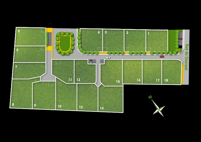 18 terrains à vendre à Noé - Les jardins du village
